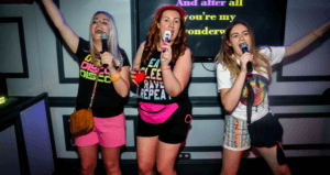 Hens on a Karaoke night in Magaluf Bar