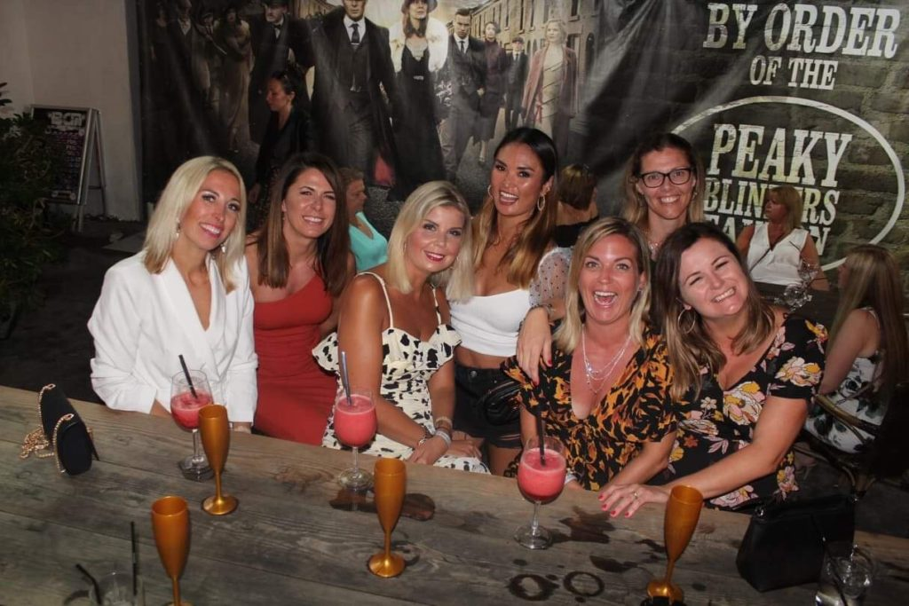 ladies drinking cocktails at Peaky Blinders Magaluf